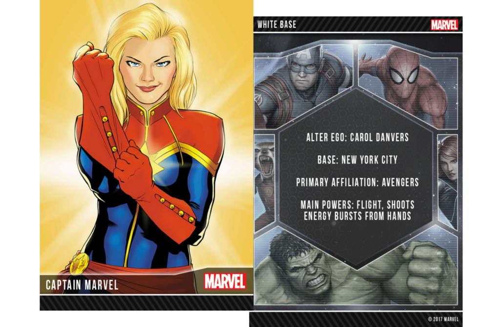 Captain marvel collectible card